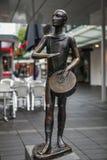 ROTTERDAM, holandie - SIERPIEŃ 25: Sławna miasto rzeźba od brązu na Sierpień 25, 2015 w Amsterdam Fotografia Royalty Free