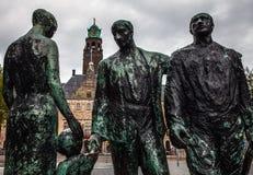 ROTTERDAM, holandie - SIERPIEŃ 25: Sławna miasto rzeźba od brązu na Sierpień 25, 2015 w Amsterdam Obrazy Royalty Free