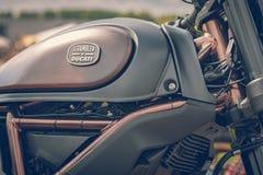 ROTTERDAM, holandie - WRZESIEŃ 2 2018: Motocykle są shini fotografia stock
