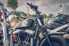 ROTTERDAM, holandie - WRZESIEŃ 2 2018: Motocykle są shini obraz stock