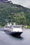 ROTTERDAM of Holland America Line at Geirangerfjord, Norway Stock Image