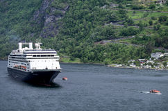 ROTTERDAM of Holland America Line at Geirangerfjord, Norway Royalty Free Stock Photography