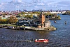 Rotterdam, Hollandes Vieille tour de phare dans le port Images libres de droits