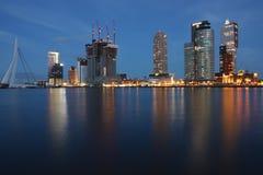 Rotterdam horisont Arkivfoto