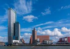 Rotterdam horisont Arkivbilder