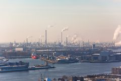 Rotterdam Industrial area Royalty Free Stock Photo