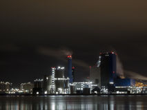 Rotterdam industry in the night Royalty Free Stock Image