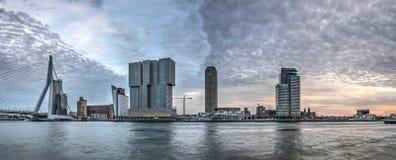 Rotterdam Kop skåpbil Zuid panorama arkivbilder