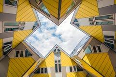 Rotterdam kubhus Arkivfoto