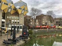 Rotterdam kubhus Arkivfoton