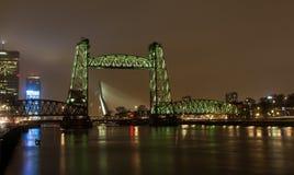Rotterdam les Pays-Bas la nuit photographie stock libre de droits