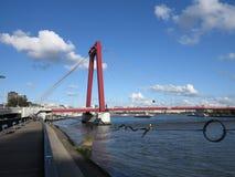 Rotterdam, Maas river, Netherlands Royalty Free Stock Photos