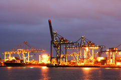 The Rotterdam Maashaven Docks Royalty Free Stock Photography