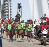 Rotterdam marathon. Leading group during the Rotterdam marathon Stock Photo