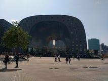 Rotterdam Market Hall. Modern building of Market Hall in Rotterdam Royalty Free Stock Photo