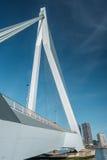 Rotterdam miasta pejzaż miejski z Erasmus mostem, Południowy Holandia, holandie Obrazy Stock