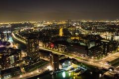 Rotterdam na noite Fotografia de Stock