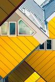 Rotterdam Nederländerna - 2017 Juni 22 - kubhus i cente Royaltyfri Foto