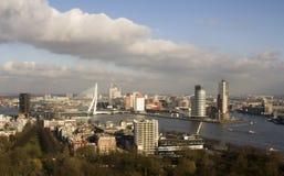 Rotterdam, The Netherlands. A photo of the Rotterdam and the Erasmus Bridge stock photos