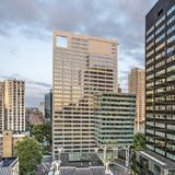 Blaak office tower and neighbours royalty free stock photo