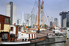 ROTTERDAM, THE NETHERLANDS - 18 AUGUST: Old cranes in Historical Stock Photos