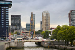 ROTTERDAM, THE NETHERLANDS - 18 AUGUST: Old cranes in Historical Stock Photography