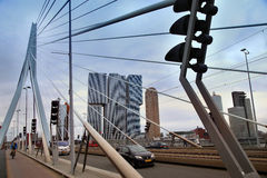 ROTTERDAM, THE NETHERLANDS - 18 AUGUST: Rotterdam is a city mode Royalty Free Stock Photography