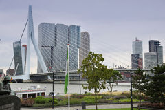 ROTTERDAM, THE NETHERLANDS - 18 AUGUST: Rotterdam is a city mode Stock Images