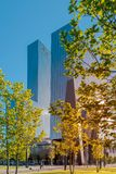 Rotterdam, The Netherlands, Delftse Poort high rise office block on a sunny morning royalty free stock image