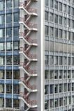 Office tower emergency staircase royalty free stock photography