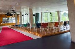 Rotterdam, Netherlands - May 9, 2015: Auditorium of Kunsthal museum in Museumpark, Rotterdam Royalty Free Stock Photo