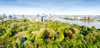 ROTTERDAM, NETHERLANDS - May 10: Cityscape from the Euromast tower in Rotterdam, Netherlands on May 10, 2015. Stock Photography