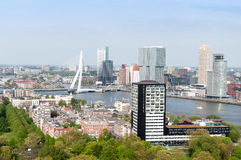 ROTTERDAM, NETHERLANDS - May 10: Cityscape from the Euromast tower in Rotterdam, Netherlands on May 10, 2015. Royalty Free Stock Photography