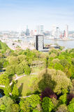 ROTTERDAM, NETHERLANDS - May 10: Cityscape from the Euromast tower in Rotterdam, Netherlands on May 10, 2015. Royalty Free Stock Images