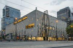 Coolsingel boulevard with Bijenkorf department store royalty free stock image