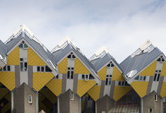 Rotterdam. NETHERLANDS - MAY 16, 2017: Cube houses  are a set of innovative houses built in  and Helmond in the Netherlands, designed by architect Piet Blom Stock Photos