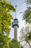 ROTTERDAM, NETHERLANDS, MAY 10: Euromast observation tower built specially for the 1960 Floriade, taken on MAY 10 2015  in Rotterd Royalty Free Stock Images