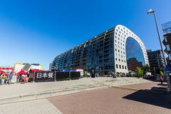 Exterior view of the Market Hall a residential and office building stock photography