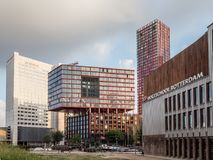 Rotterdam, The Netherlands - May 31, 2018. Modern architectures in the Wijnhaven canal area.  royalty free stock images