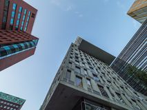 Rotterdam, The Netherlands - May 31, 2018. Modern architectures on the Maas river Stock Photo