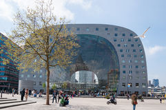 ROTTERDAM, NETHERLANDS - MAY 9, 2015 The new Market Hall Stock Image