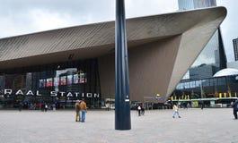 Rotterdam, Netherlands - May 9, 2015: Passenger at Rotterdam Central Station. Royalty Free Stock Photography