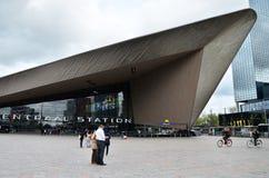 Rotterdam, Netherlands - May 9, 2015: Passengers at Rotterdam Central Station. Stock Photo