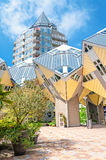 ROTTERDAM, NETHERLANDS - May 9, 2015:Pencil tower and cube houses Stock Photo