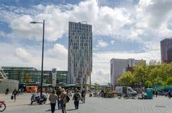 Rotterdam, Netherlands - May 9, 2015: People around Blaak Station in Rotterdam Royalty Free Stock Photography