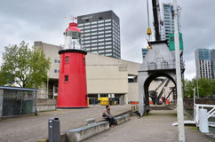 Rotterdam, Netherlands - May 9, 2015: People around maritime museum in Rotterdam Royalty Free Stock Photos