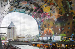 Rotterdam, Netherlands - May 9, 2015: People at Retail Shop in Markthal Rotterdam Stock Photography