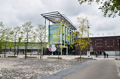 Rotterdam, Netherlands - May 9, 2015: People visit Het Nieuwe Institut museum Royalty Free Stock Photo