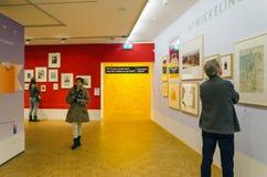 Rotterdam, Netherlands - May 9, 2015: People visit Kunsthal museum in Rotterdam Stock Photo