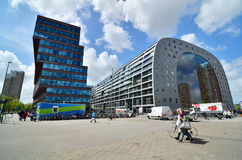 Rotterdam, Netherlands - May 9, 2015: People visit Market hall in Rotterdam Royalty Free Stock Photos